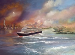 Voyage of Memories - Queen Elizabeth 2013 by Philip Gray - Limited Edition Canvas on Board sized 20x15 inches. Available from Whitewall Galleries